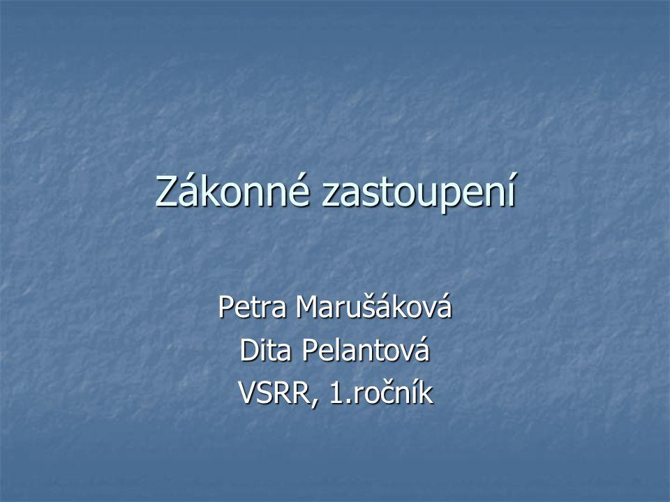 Petra Marušáková Dita Pelantová VSRR, 1.ročník