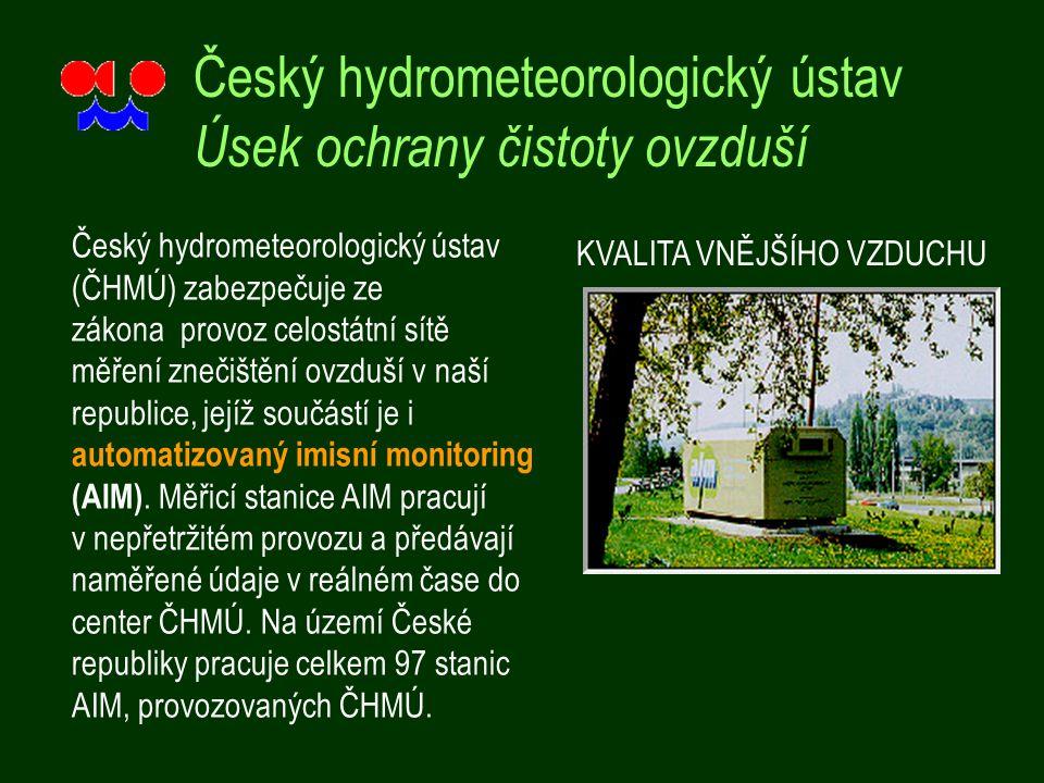 Český hydrometeorologický ústav Úsek ochrany čistoty ovzduší