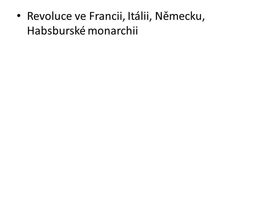 Revoluce ve Francii, Itálii, Německu, Habsburské monarchii