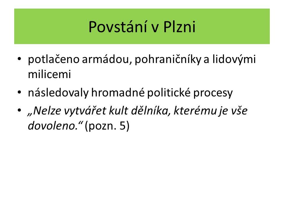 Povstání v Plzni potlačeno armádou, pohraničníky a lidovými milicemi