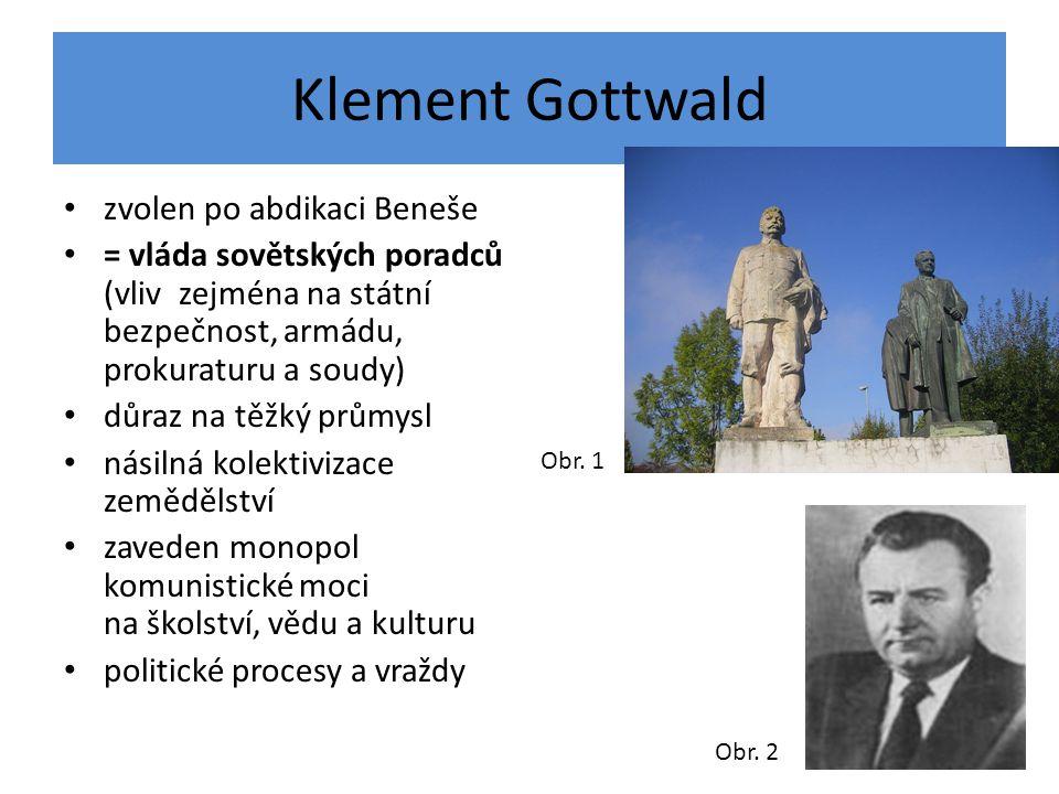 Klement Gottwald zvolen po abdikaci Beneše