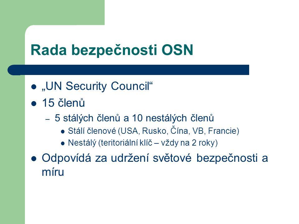 "Rada bezpečnosti OSN ""UN Security Council 15 členů"