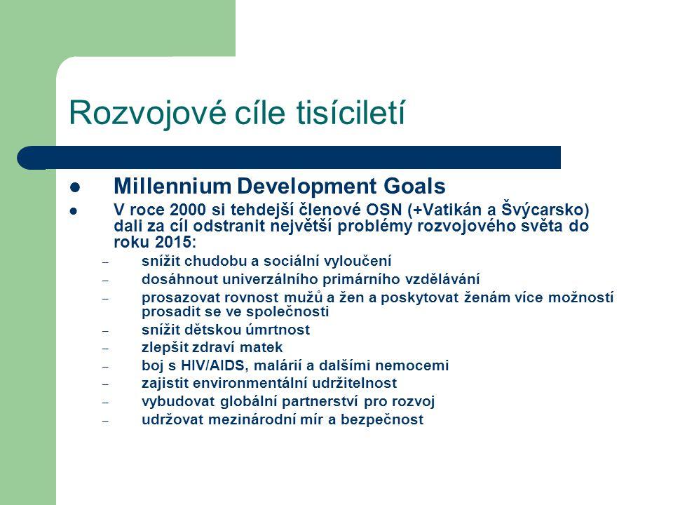 Rozvojové cíle tisíciletí