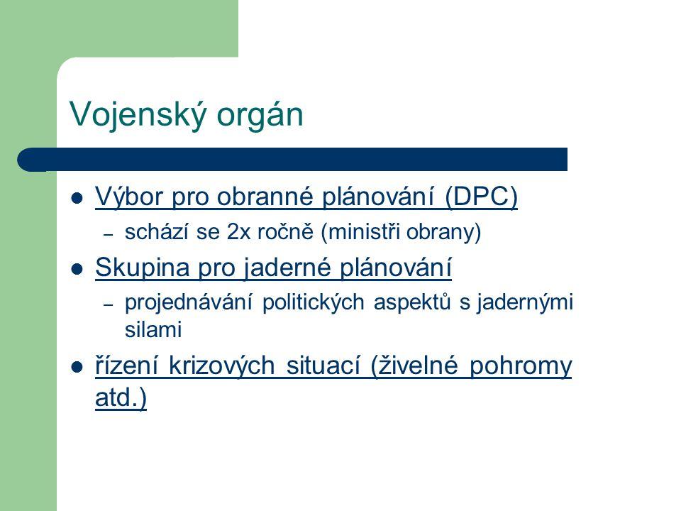 Vojenský orgán Výbor pro obranné plánování (DPC)