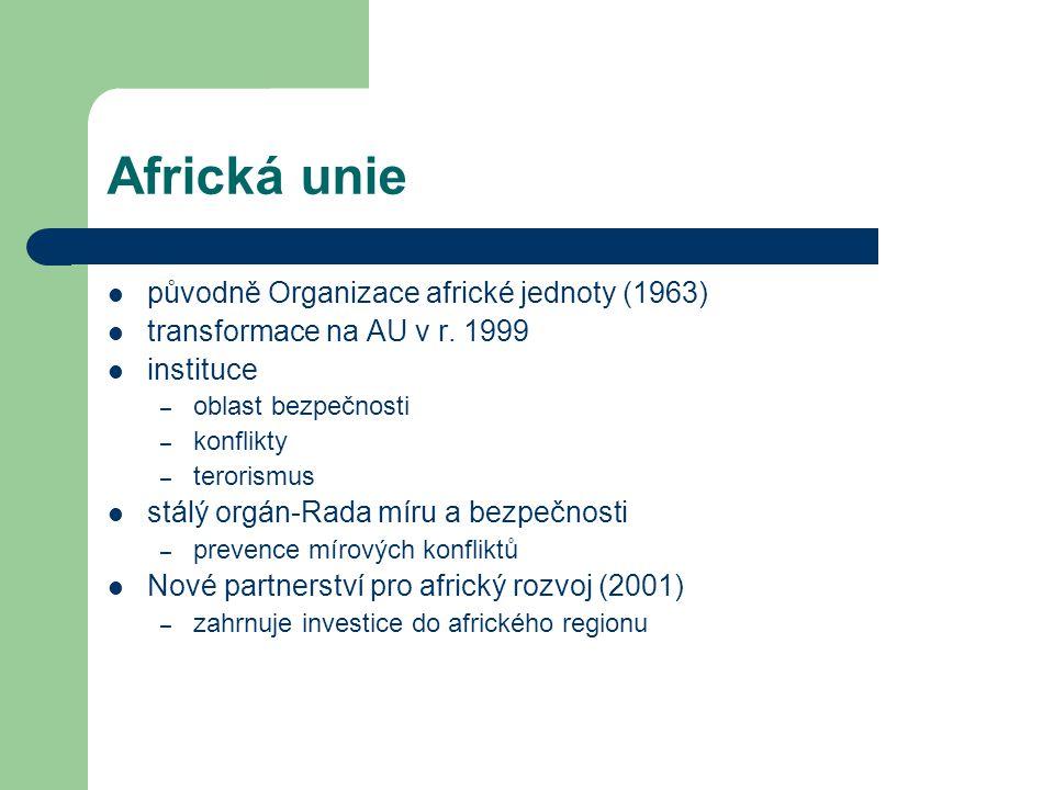 Africká unie původně Organizace africké jednoty (1963)