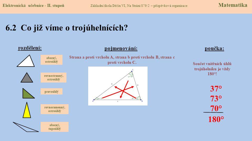 6.2 Co již víme o trojúhelnících