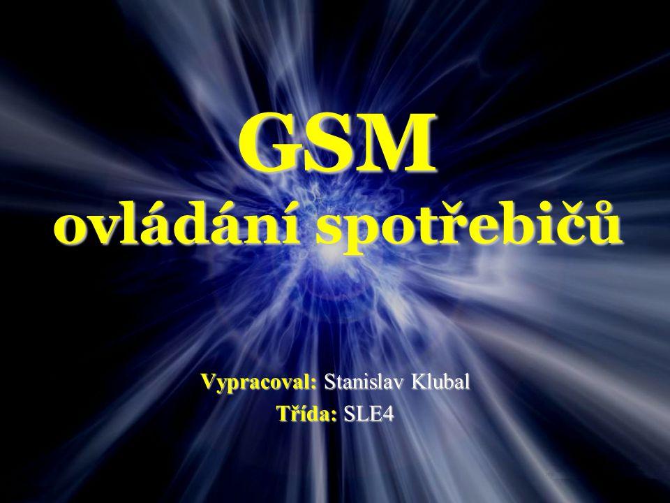 GSM ovládání spotřebičů