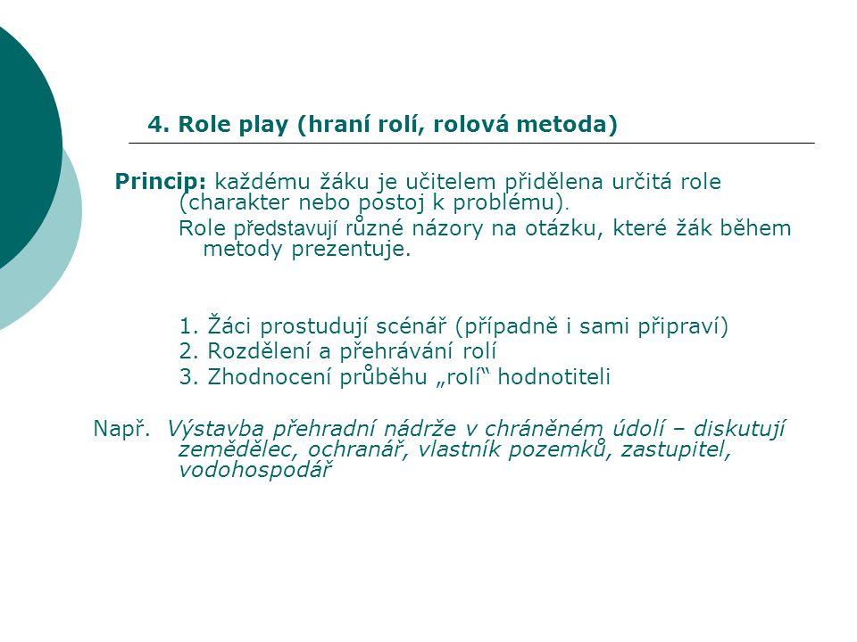4. Role play (hraní rolí, rolová metoda)