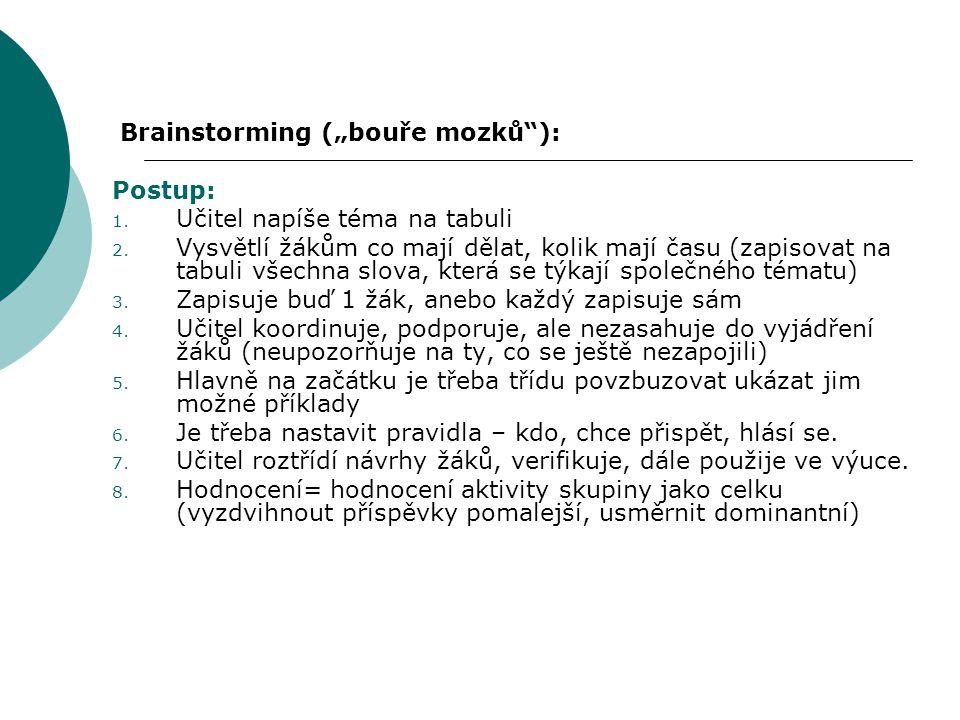 """Brainstorming (""""bouře mozků ):"""