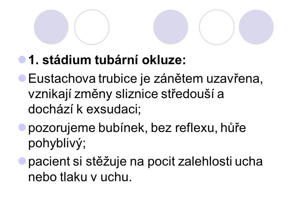 1. stádium tubární okluze: