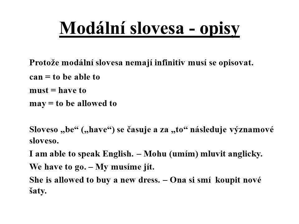 Modální slovesa - opisy