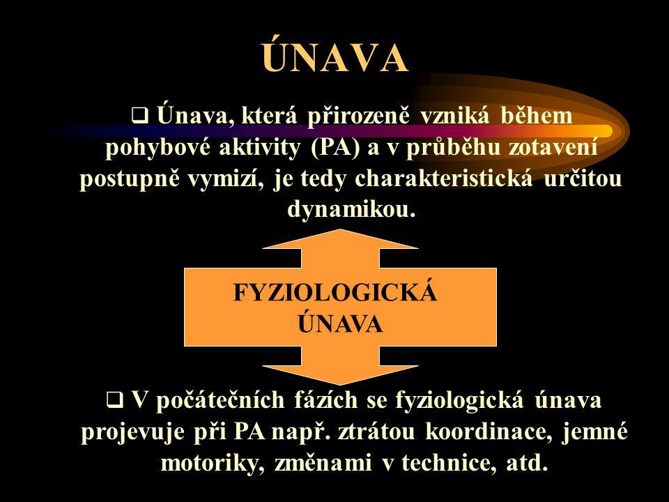 ÚNAVA FYZIOLOGICKÁ ÚNAVA