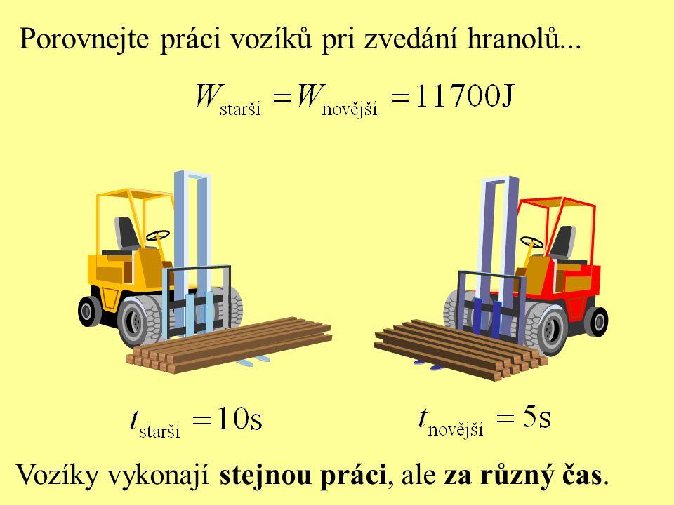 Porovnejte práci vozíků pri zvedání hranolů...