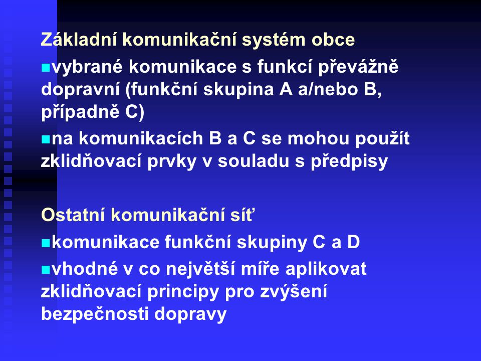 Základní komunikační systém obce