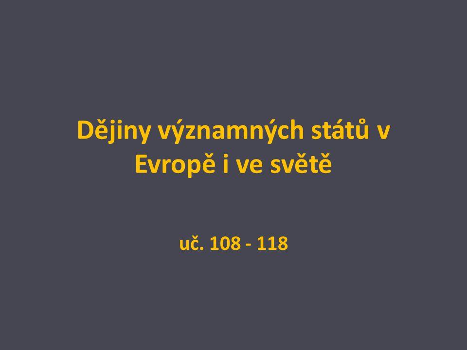 Dějiny významných států v Evropě i ve světě
