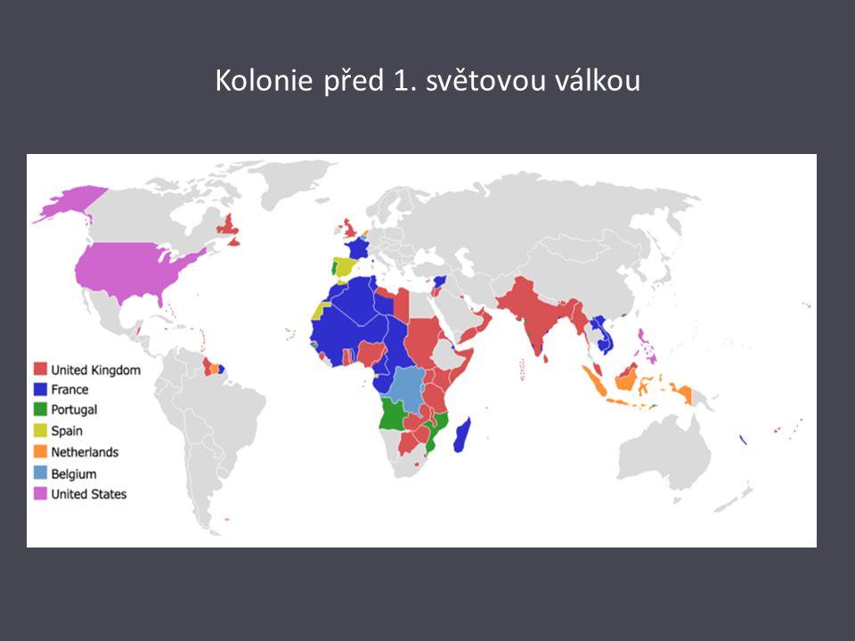 Kolonie před 1. světovou válkou