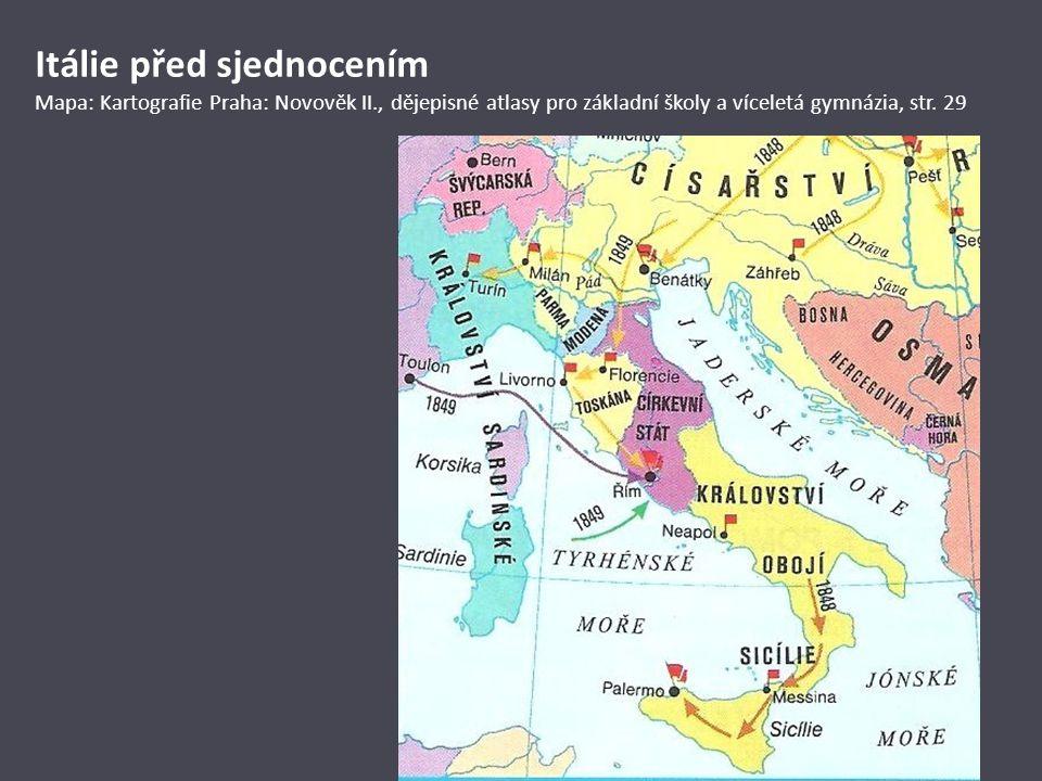 Itálie před sjednocením Mapa: Kartografie Praha: Novověk II