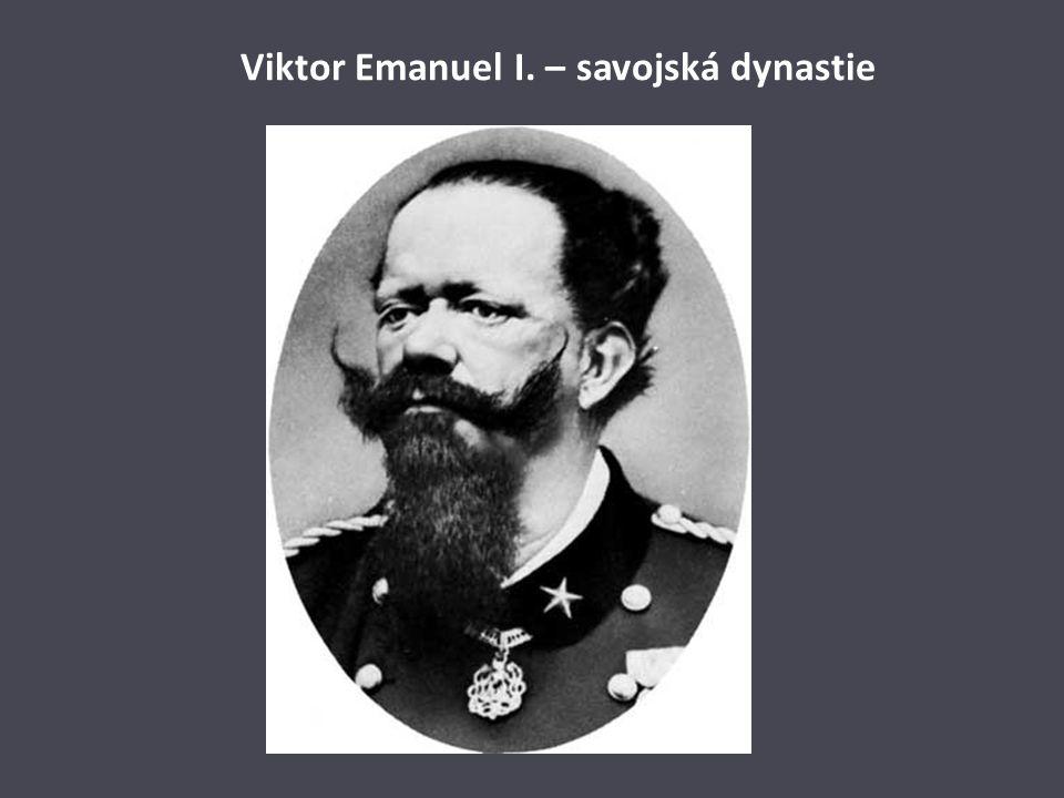 Viktor Emanuel I. – savojská dynastie