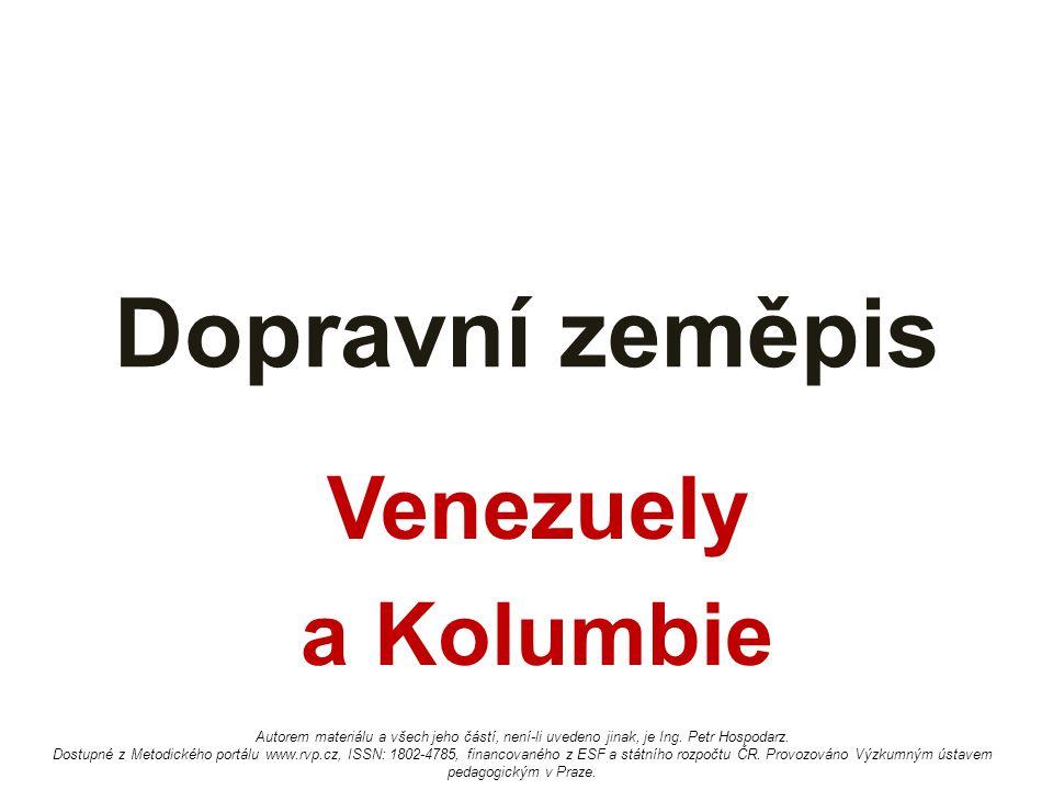 Dopravní zeměpis Venezuely a Kolumbie