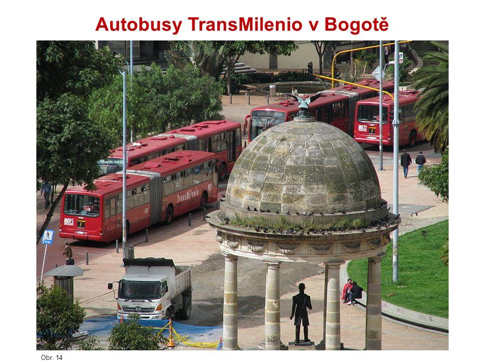 Autobusy TransMilenio v Bogotě