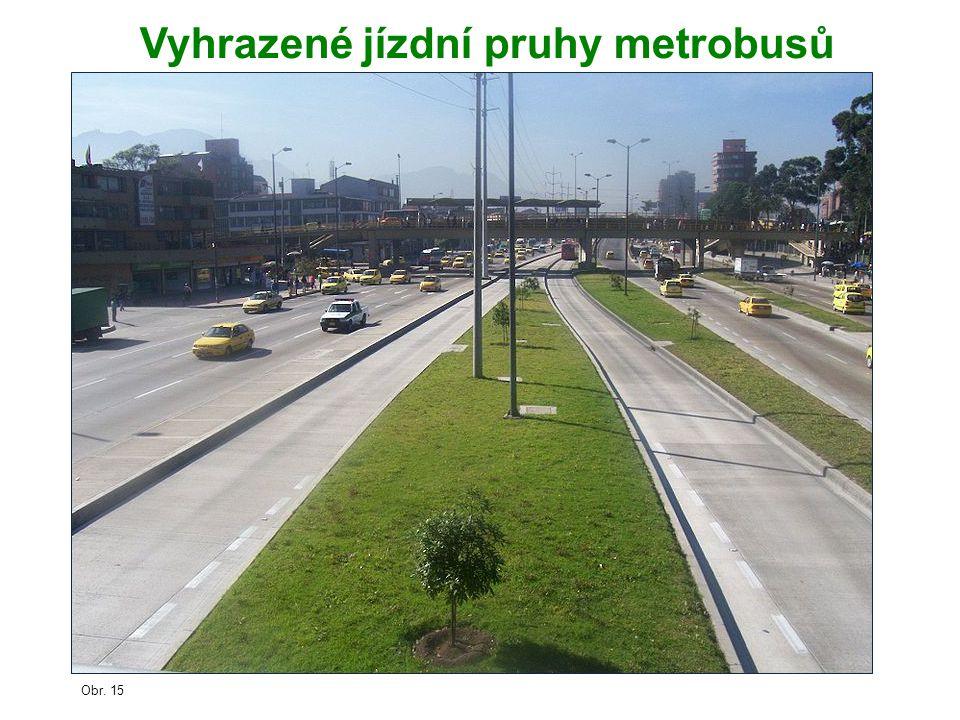 Vyhrazené jízdní pruhy metrobusů