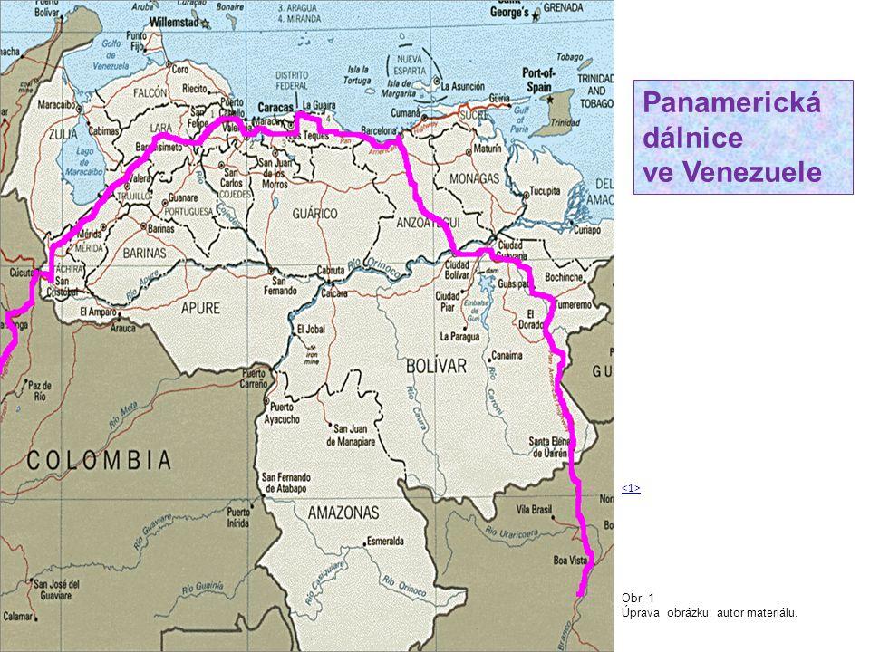 Panamerická dálnice ve Venezuele <1> Obr. 1
