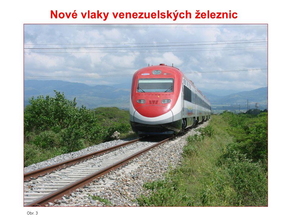 Nové vlaky venezuelských železnic
