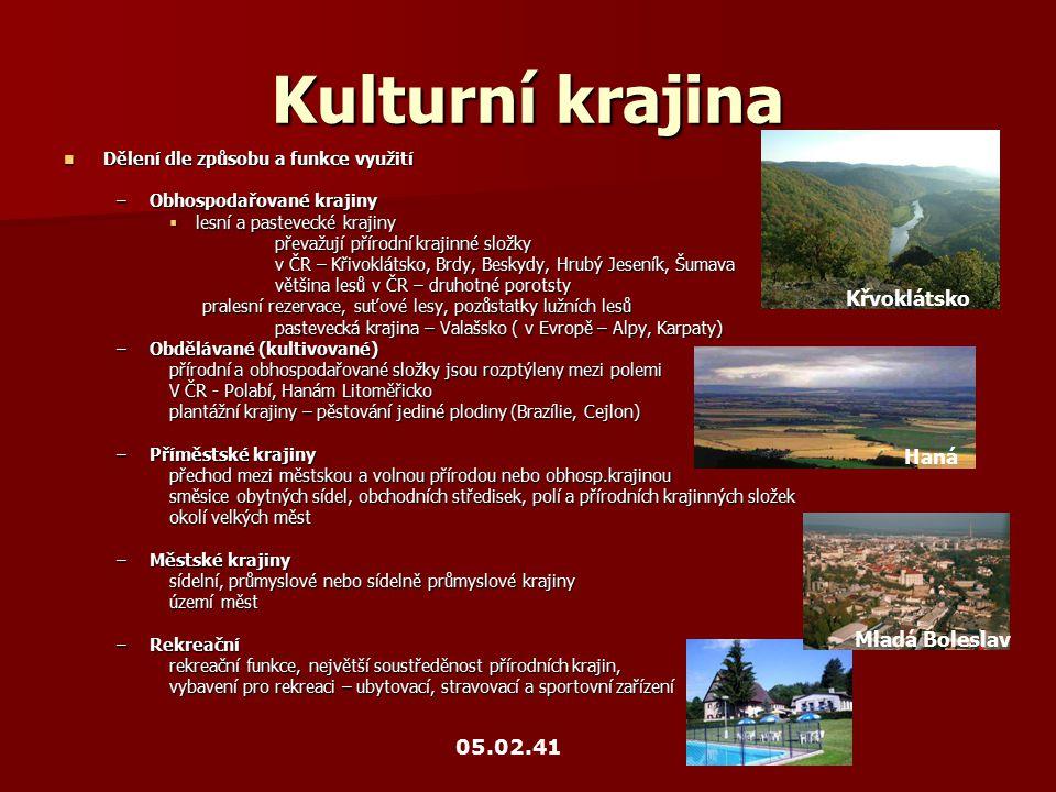 Kulturní krajina Křvoklátsko Haná Mladá Boleslav 05.02.41