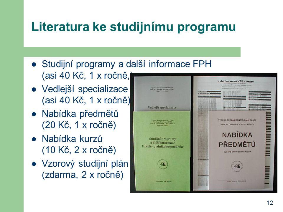 Literatura ke studijnímu programu