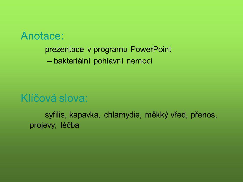 syfilis, kapavka, chlamydie, měkký vřed, přenos, projevy, léčba