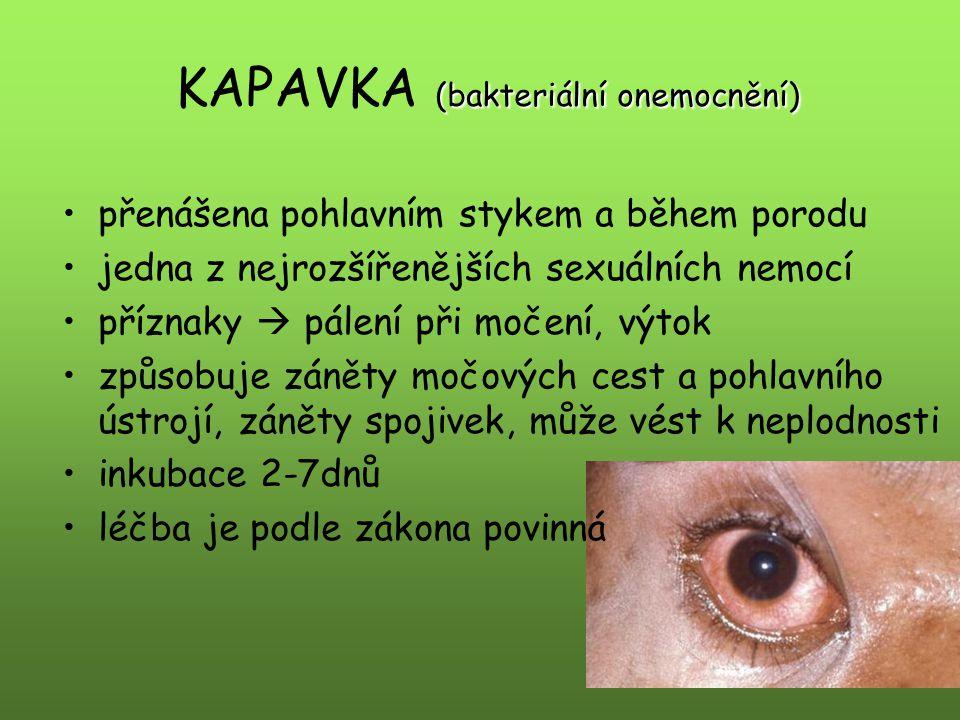 KAPAVKA (bakteriální onemocnění)
