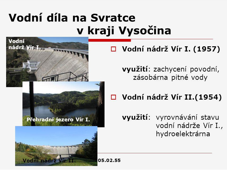 Vodní díla na Svratce v kraji Vysočina