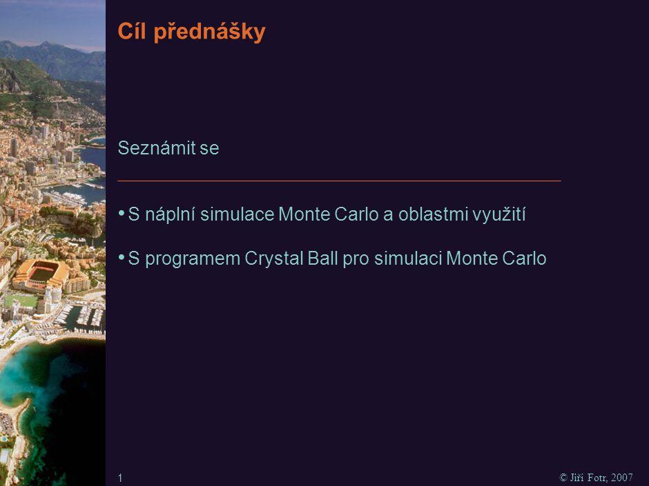 Analýza rizika simulací Monte Carlo