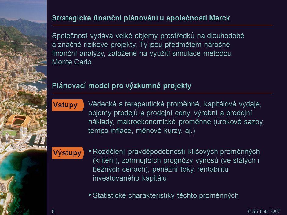 Simulační plánovací model společnosti Merck
