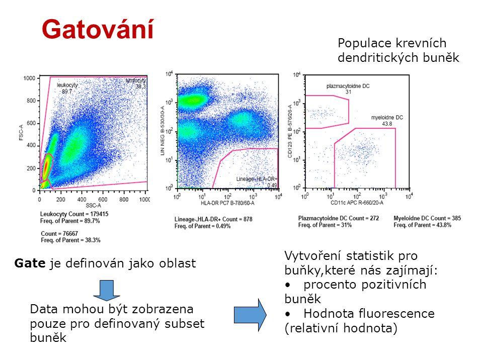 Gatování Populace krevních dendritických buněk