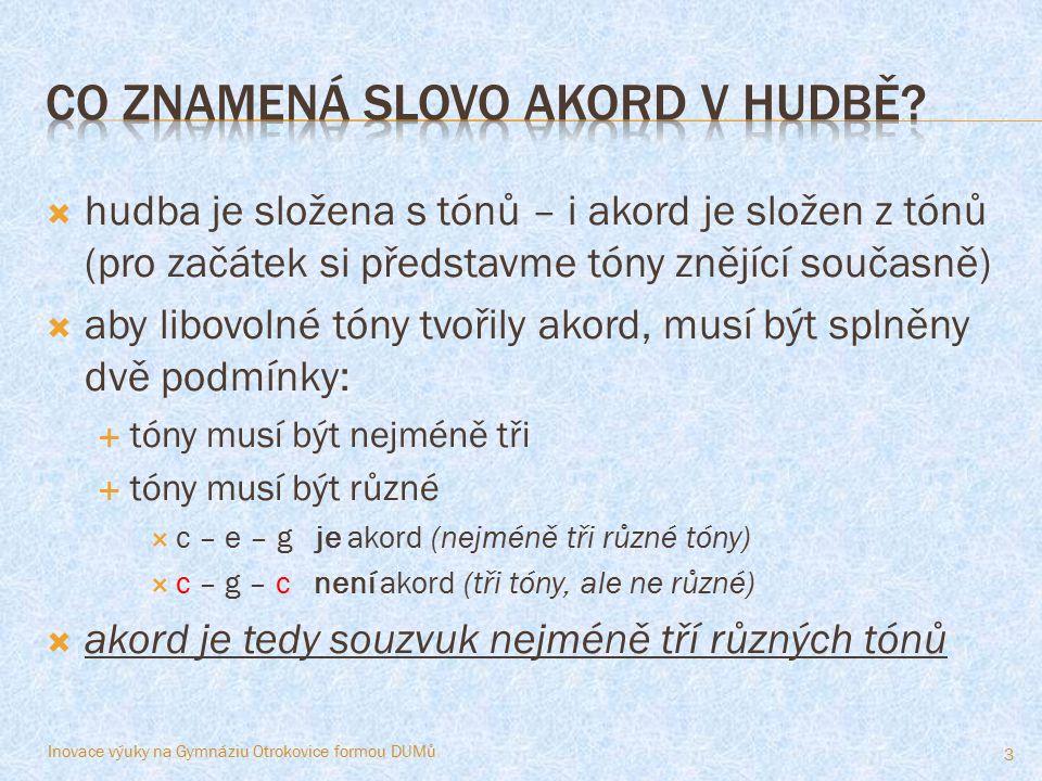 Co znamená slovo Akord v hudbě
