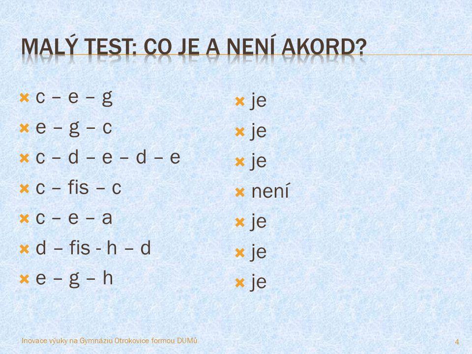 Malý test: Co je a není akord