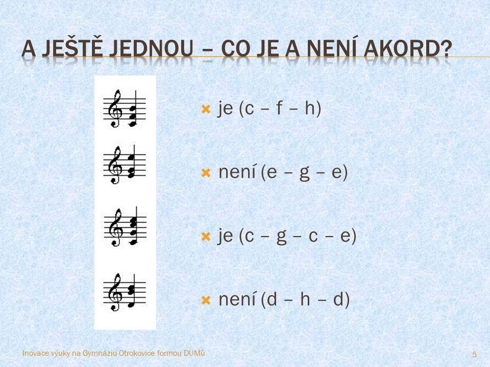 A ještě jednou – co je a není akord