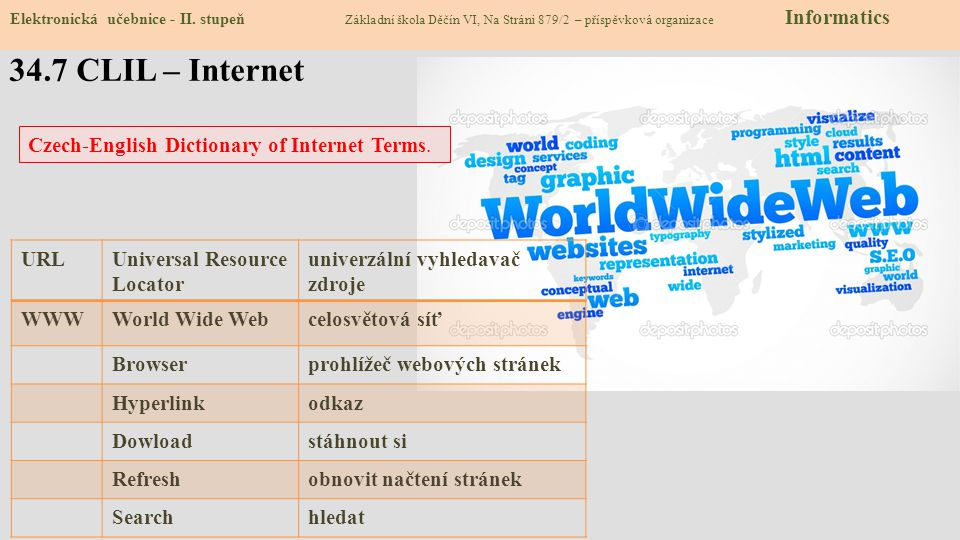 34.7 CLIL – Internet Czech-English Dictionary of Internet Terms. URL