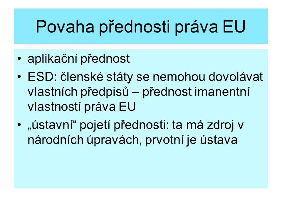 Povaha přednosti práva EU