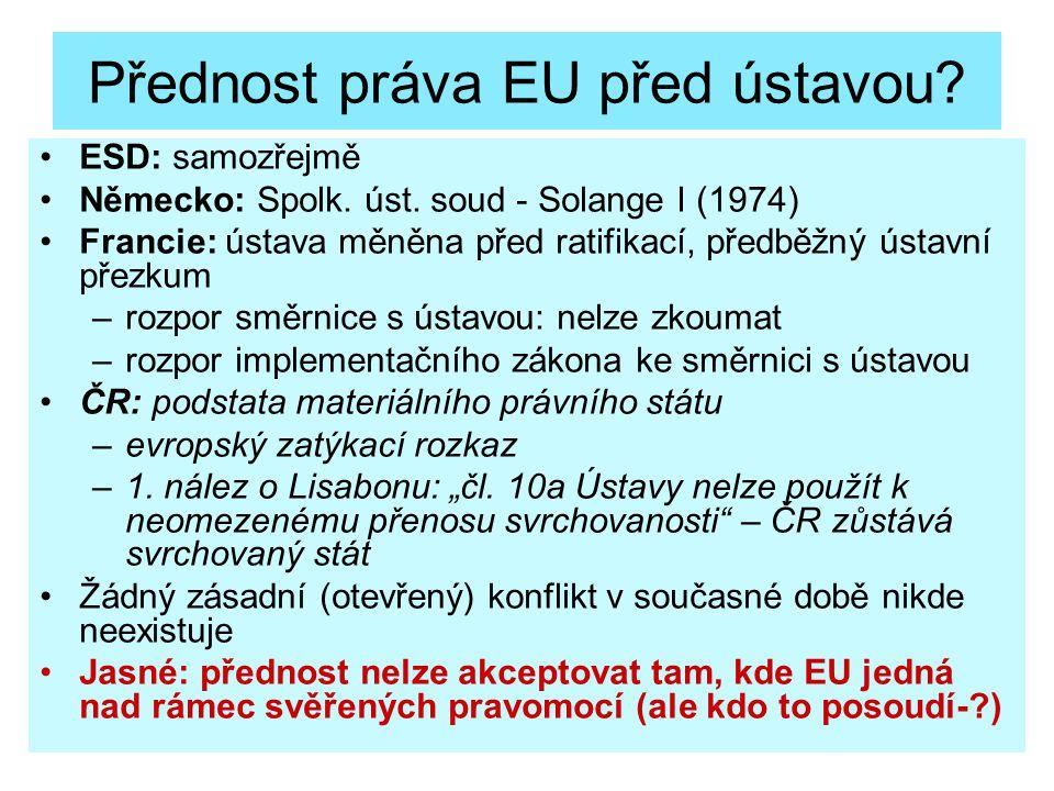 Přednost práva EU před ústavou