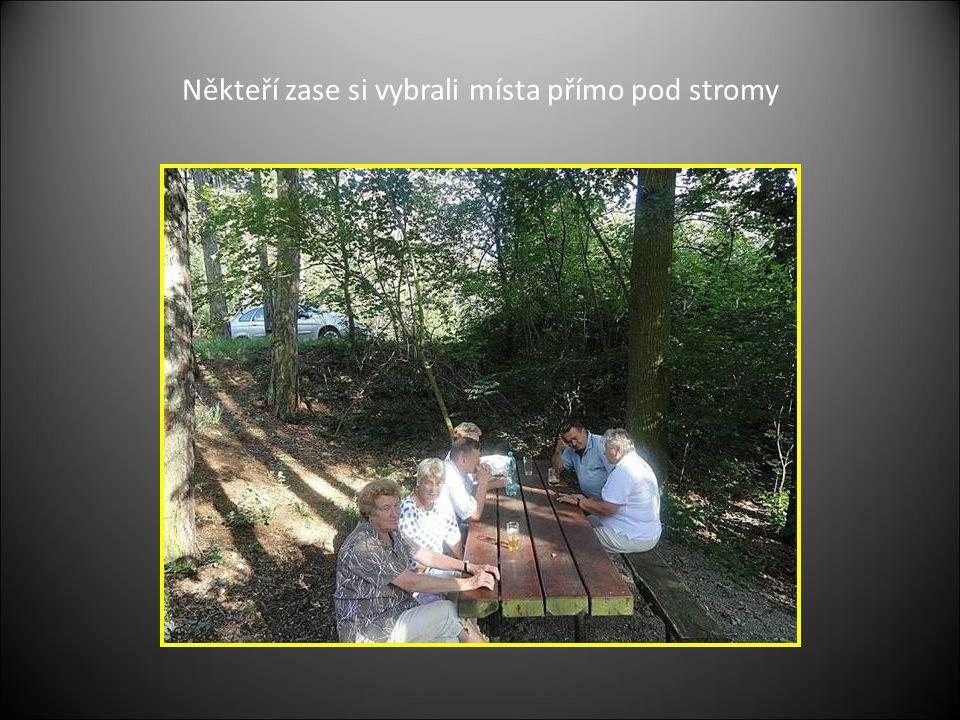 Někteří zase si vybrali místa přímo pod stromy