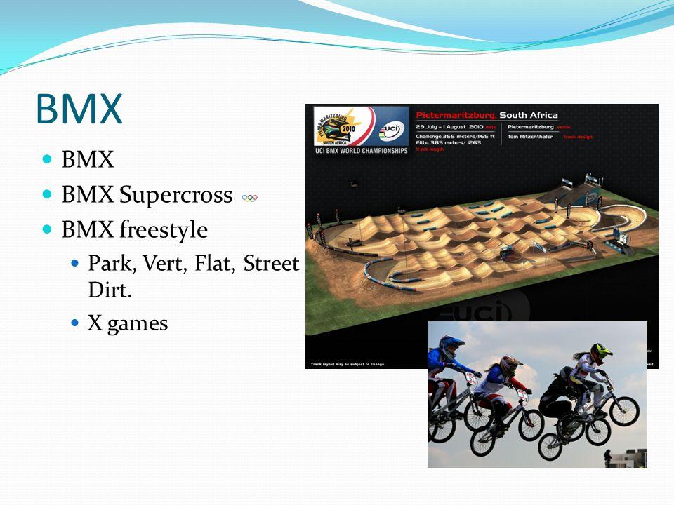 BMX BMX BMX Supercross BMX freestyle Park, Vert, Flat, Street a Dirt.