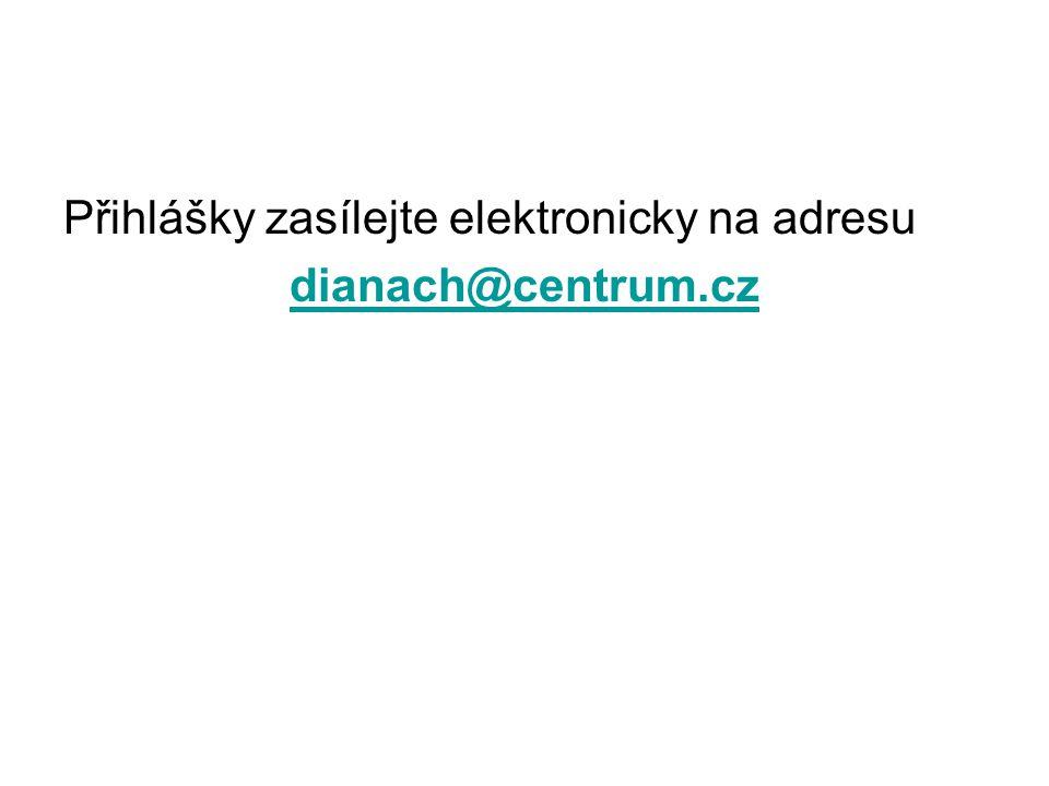 Přihlášky zasílejte elektronicky na adresu
