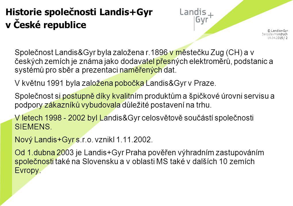 Historie společnosti Landis+Gyr v České republice