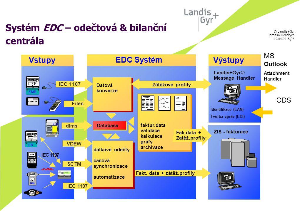 Systém EDC – odečtová & bilanční centrála