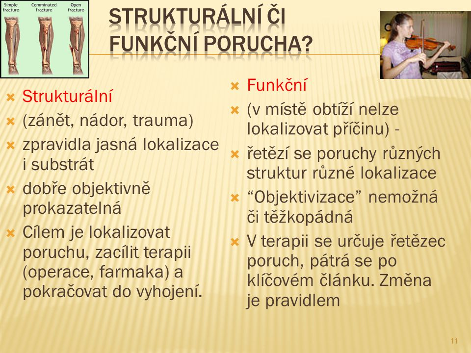 Strukturální či funkční porucha