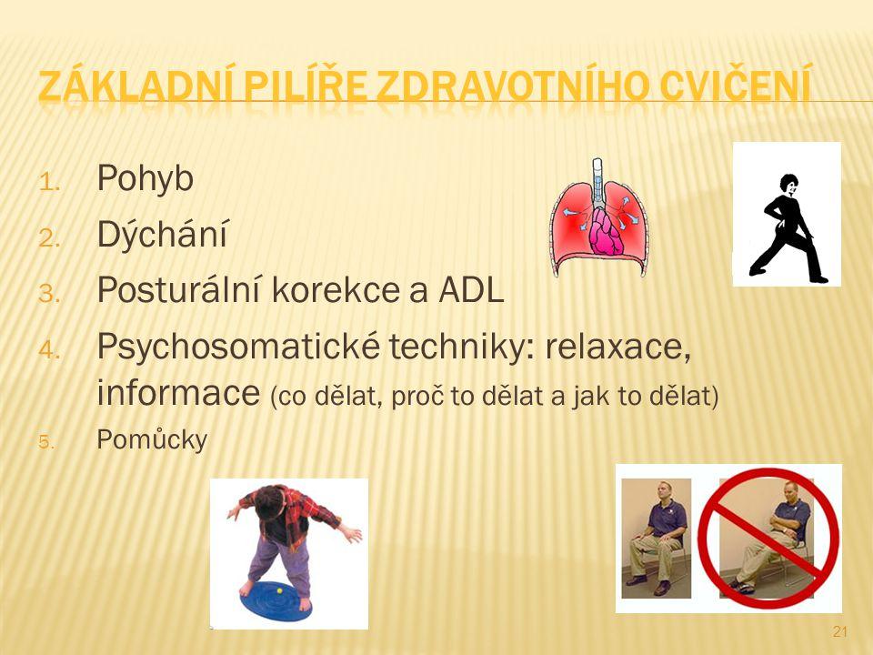 Základní pilíře zdravotního cvičení