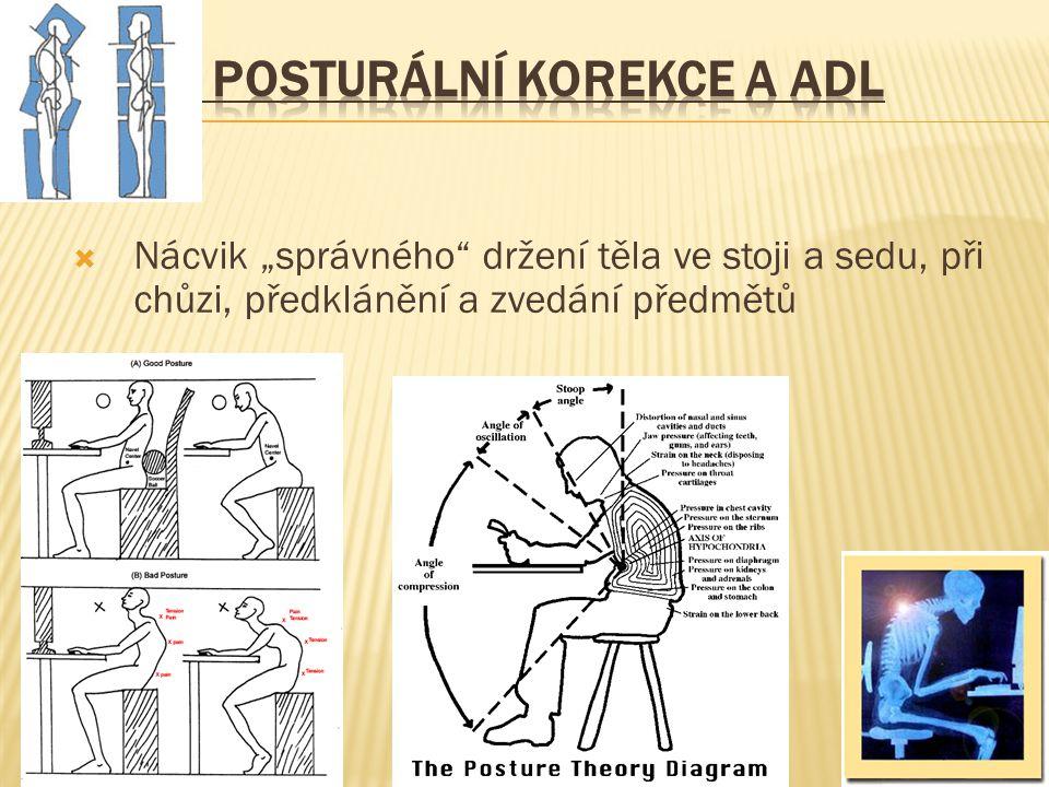 3. Posturální korekce a ADL