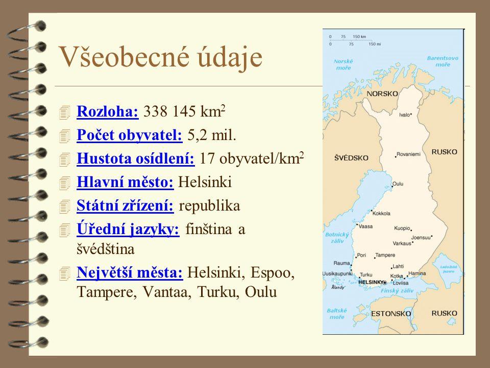 Všeobecné údaje Rozloha: 338 145 km2 Počet obyvatel: 5,2 mil.